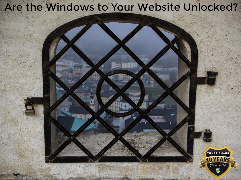 Websites are Like Banks with Unlocked Windows